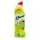 Q Power WC  lemon - hustý  gel  750 ml  -  čistič wc s vůní citronu
